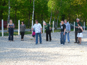 Playing boules